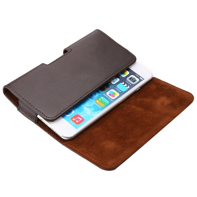 Luxury Genuine Leather Men Waist Bag Clip Belt Pouch Mobile Phone Holster cover Case For HTC Desire 310