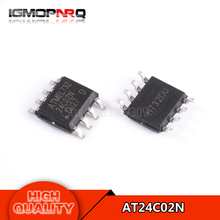 10pcs free shipping AT24C02N 24C02 24C02N SOP-8 EEPROM PB/HALO free NiPdAu, 1.7V new original