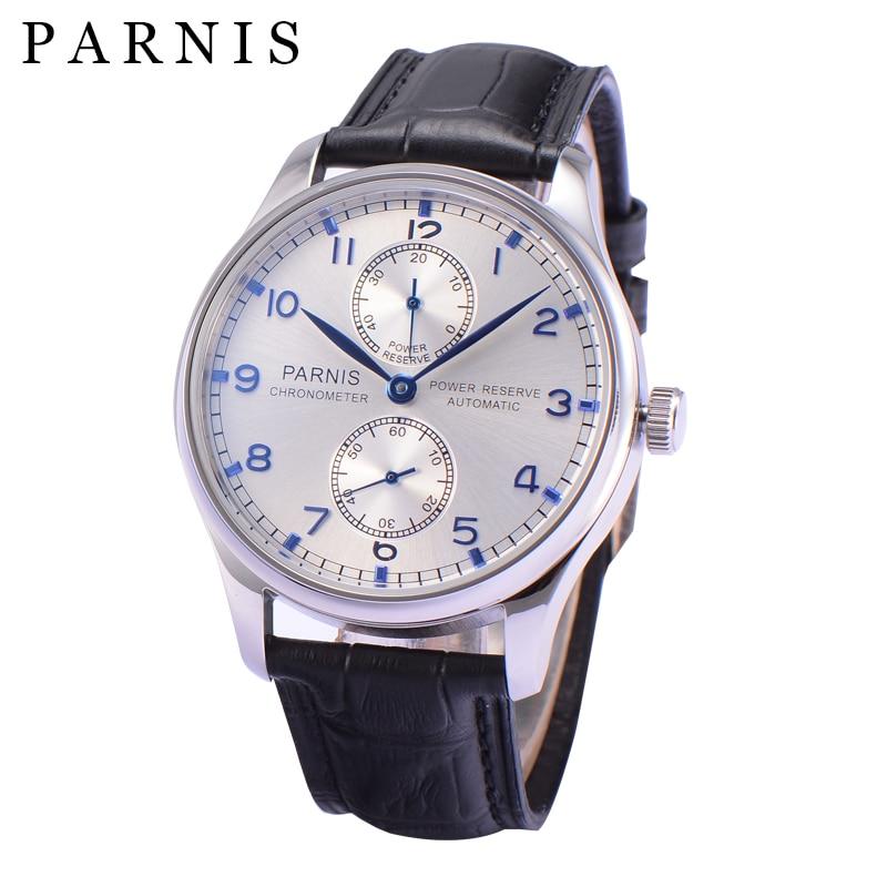 2019 nowy PARNIS 43mm mechaniczny automatyczny zegarek męski Diver niebieski ręce męskie zegarki Top marka luksusowe horloges mannen erkek saat w Zegarki mechaniczne od Zegarki na  Grupa 1