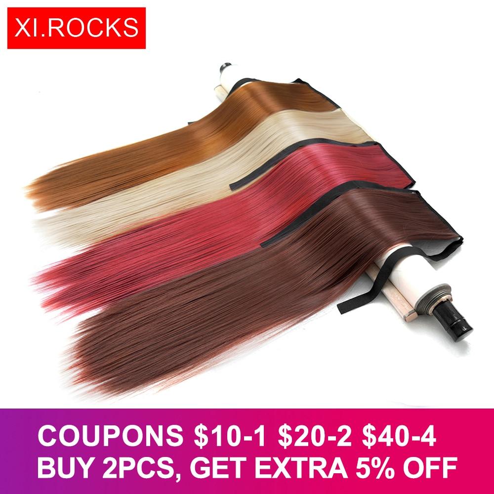 Xi.rocks Straight Hair Ponytails 25Colors Syntetisk - Syntetiskt hår - Foto 1