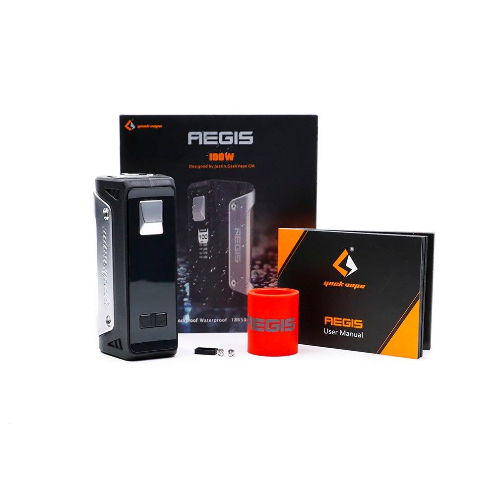 D'origine Geekvape AEGIS 100 W Boîte Mod étanche antichoc et antipoussière TC 100 w vaporisateur boîte mod fit 18650/26650/20700 batterie
