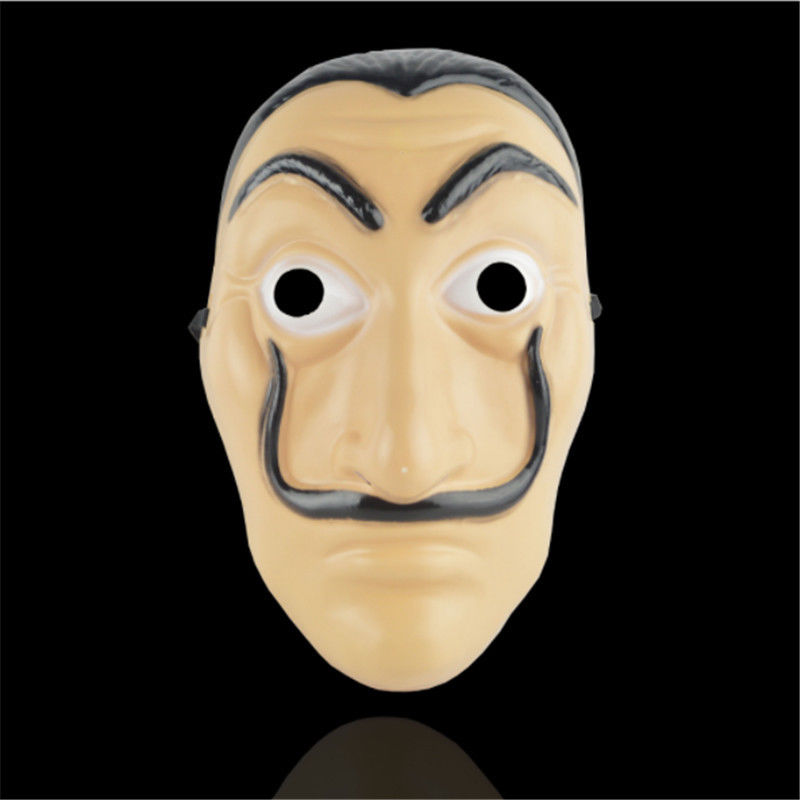 In Stock La Casa De Papel Mask Salvador Dali Face Mask Masque Mascara Dali Money Heist New Gifts