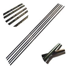 Wood Grained Archery Carbon Arrows Spine 400 500 600 Arrow Shaft For Hunting And Shooting Pack Of 6