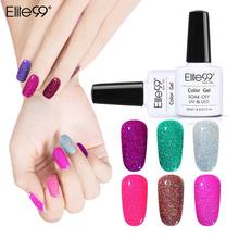Elite99 Bling Neon Color Gel Lacquer Soak Off Gel Polish UV LED Lamp Base Top Coat Needed Nail Gel Polish Art Nail Polish 10ML(China)