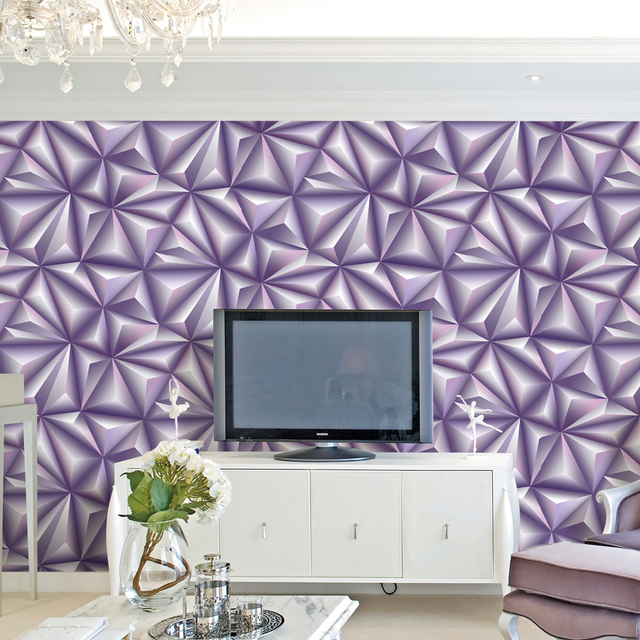 5 Color Embossed Edge Line Bricks Pattern Wallpaper Roll 3d Wall