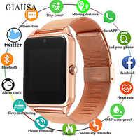 2019 montre intelligente GT08 Plus horloge en métal avec fente pour carte Sim Message poussoir connectivité Bluetooth Android IOS téléphone Smartwatch PK S8