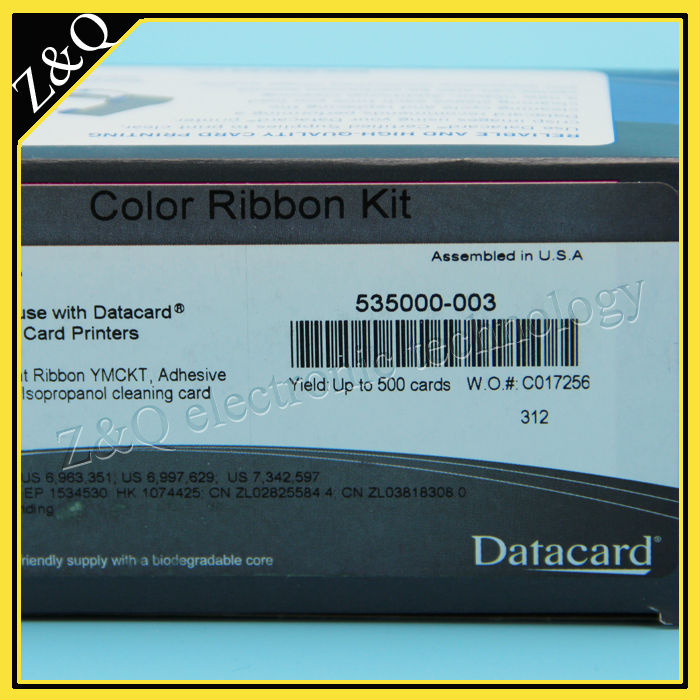Datacard CD800 printer ribbon 535000-003 YMCKT datacard 535000 003 ymckt ribbon datacard cp80 card printer ribbon ymckt color ribbon