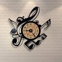 Living Room Vintage Retro Vinyl Wall Clock Musical Themes CD Record Clock Large 3D Home Decor