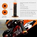 Left 22mm & Right 24mm Rubber Motorcycle HandleBar Motorbikes Hand Grips For ktm 690 smc ktm exc 300 ktm 990 With KTM LOGO