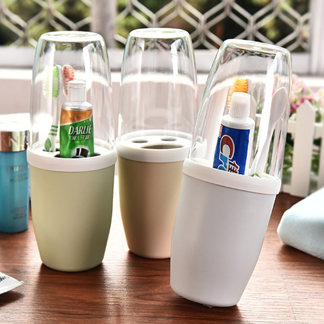 2018 Hot New Fashion Bathroom Accessories Food Grade Pp Material Toothbrush Holder Suite Storage
