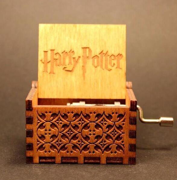 Harri Potter Hand Engraved Wooden Music Box theme song gift for Christmas birthday gift new year gift children gift