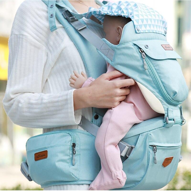 Sunveno nuevo bebé compañías ergonómico bebé abrigo mochila portador taburete del abrigo para canguro recién nacido bebé Honda 20 kg montones - 5