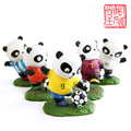 8PCS Football Panda Resin Doll The World Cup Creative Cartoon Dolls Baby Toys Chinese souvenirs Cafts Home Decor  Ornament Gift
