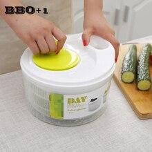 Fruits Vegetables Dryer Quick Dry Design Salad Spinner Dry Off & Drain Lettuce and Vegetable Food Prep Gadgets Colander Basket