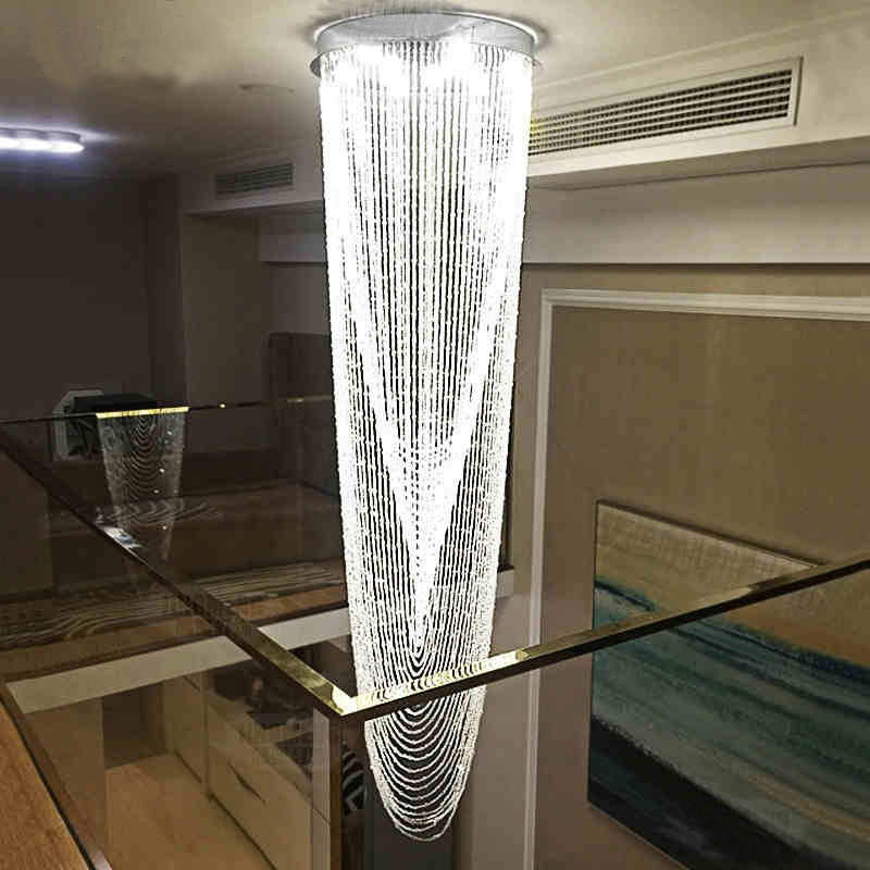 Modern contemporary lamp waterfall raindrop clear k9 crystal modern contemporary lamp waterfall raindrop clear k9 crystal chandelier for living room restaurant hotel hall in chandeliers from lights lighting on aloadofball Gallery