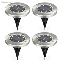 IP65 Waterproof Ground Lamp for Outdoor Fence Garden 8 LEDs Solar Powered solar light perfect power