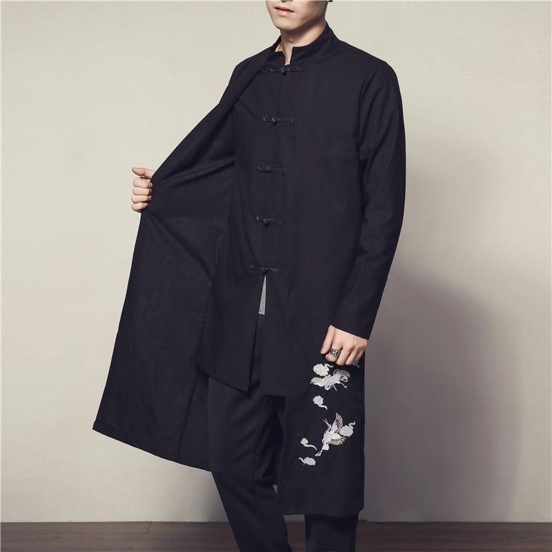 Mode Automne 2018 Manches Vestes Et Noir Style 5xl Hot Longue Populaires Dur Type Deals Chinois Hiver Hommes Mince Manteaux Vêtements 4xl WDYEeH92Ib