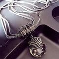 Chegada nova Longa Étnica Colar Personalizar Bola de Cristal Colar de Pingente de Acessórios de Moda Jóias Charme Colares S2524