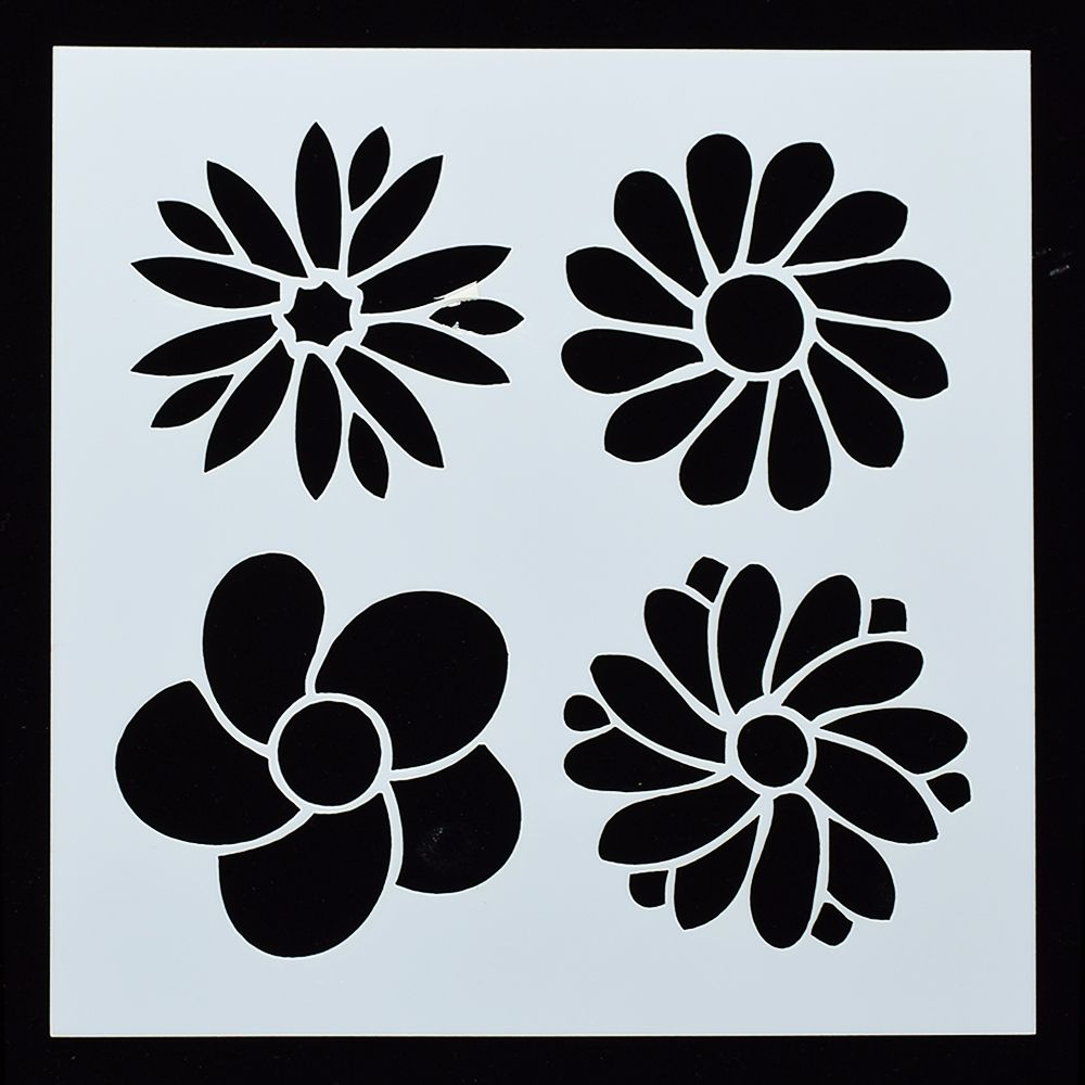 Flower Stencil* Arts And Crafts*