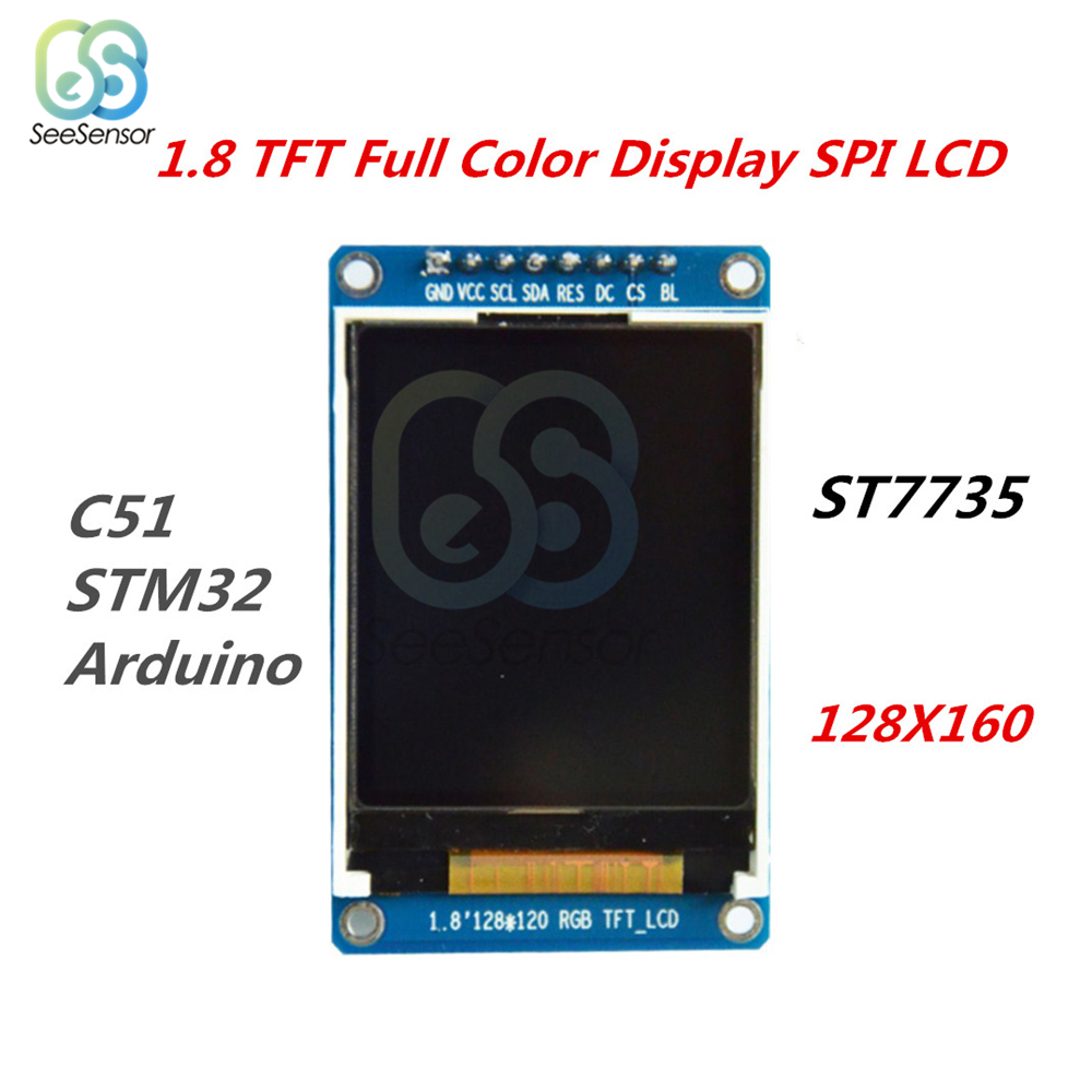 """2PCS 1.8/"""" TFT Full Color 128x160 SPI LCD Display Module Replace OLED F Arduino"""