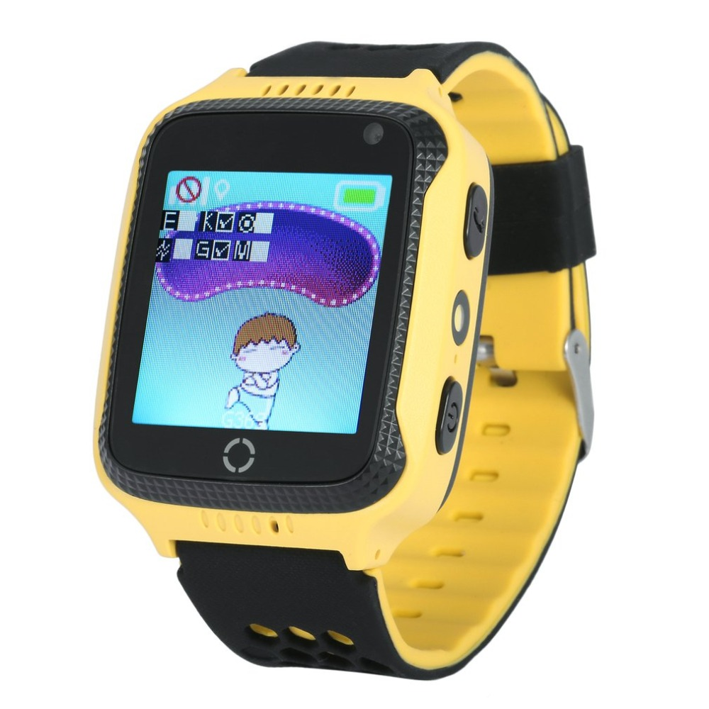 1.44 Touch Screen Kids Smart Wrist Watch GPS Tracker Children SOS Dual Way Call Anti lost Real Time GPS/LBS Locator Pedometer