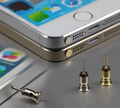 Alta qualidade plugue à prova de poeira para o iphone telefone inteligente plugue anti poeira 3.5mm Fone de Ouvido Jack & Bandeja Ferramenta Agulha Cartão Sim Do Telefone Móvel