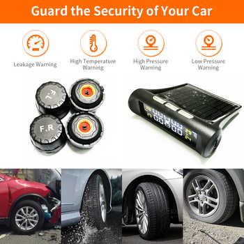 SCANDIAG Wireless Solar TPMS Car Tire Pressure Monitoring System Solar Charging Internal / External Sensors Tyre TPMS
