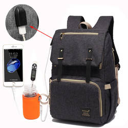 Сумка для подгузников USB Детская сумка для подгузников мумия рюкзак папы большая емкость водостойкая Повседневная сумка для ноутбука
