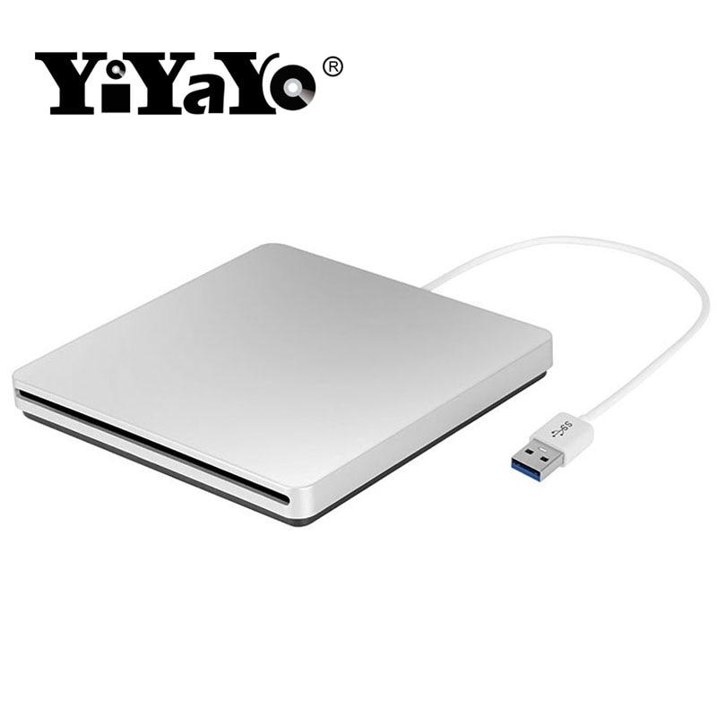 YiYaYo DVD RW degļa ārējais disks USB 3.0 CD / ROM atskaņotājs Slot-in Lasīt Writer Super Slim Portatīvie klēpjdatoriem