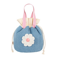 Fresh Daisy Beam Lunch Bags Color Patch Makeup Bag Lovely Simple Portable Leisure Hand Bag