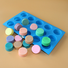 Nicole Silicone Mold 15-Cavity Round Shape Chocolate Candy Making Mould Handmade Soap Tool