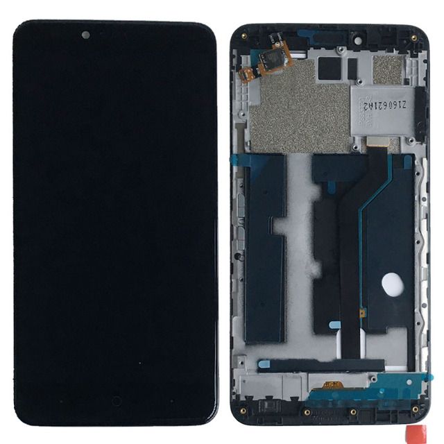 Black LCD Display Glass Touch Screen Digitizer Assembly+Frame For ZTE Zmax Pro Z981 replacement
