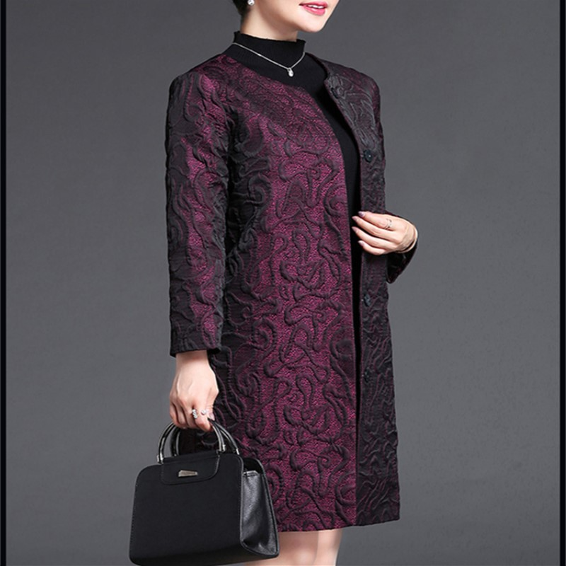 New Arrive Spring And Autumn Women s Long Style Solid Trench Coat Mid Aged Women s