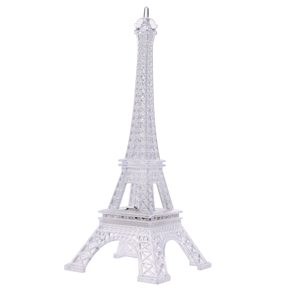 Automatic night lights decorative - Romantic Eiffel Tower Desk Bedroom Night Light Decoration Table Led Lamp Several Colors Change By Turns Automatically