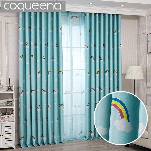 Lovely Rainbow Kids Curtains For Boys Girls Room Children Bedroom