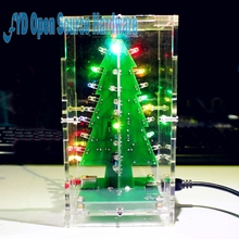 Colorful Christmas diy gift tree LED lights flash tree production of el