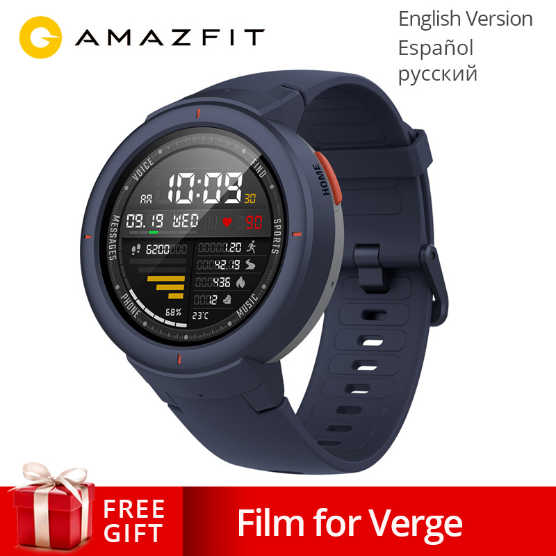 Global Version Xiaomi Huami AMAZFIT Verge 3 GPS Smart Watch IP68 AMOLED Screen Answer Calls Smartwatch