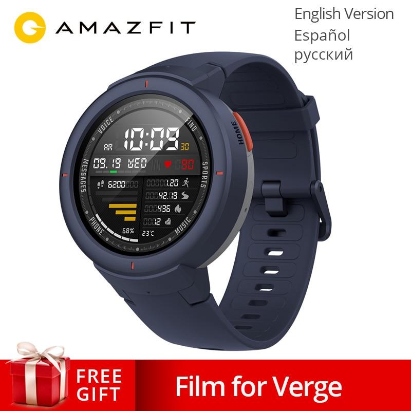 Version mondiale Xiao mi Hua mi AMAZFIT Verge 3 GPS montre intelligente IP68 AMOLED écran répondre aux appels Smartwatch Multi Sports pour mi mi 8