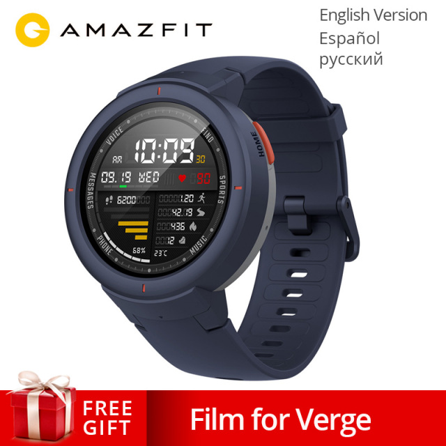 Global Version Huami AMAZFIT Verge 3 GPS Smart Watch IP68 AMOLED Screen Answer Calls Smartwatch Multi Sports for MI MI8