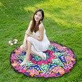 Women Sarong Collarlesst Geometric Chiffon Round Beach Throw Scarf 2017 Fashion 150x150cm cape spring summer shawls