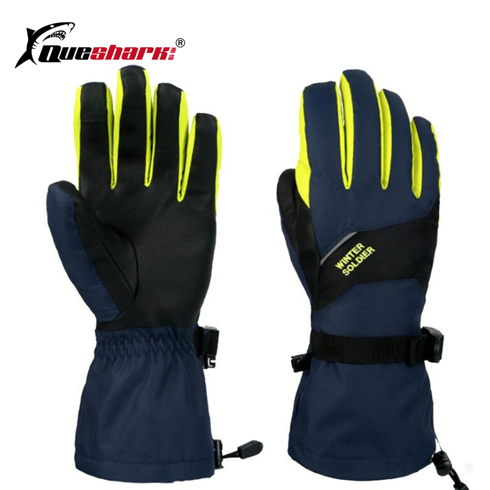 Winter Couple Touch Screen Ski Gloves Thicken Warm Motorcycle Bicycle Gloves Extended Wrist Waterproof Skiing Mittens
