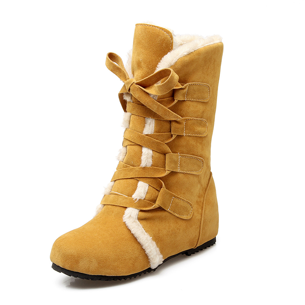 2016 New Fashion font b women b font snow boots warm thick the increased with Slope
