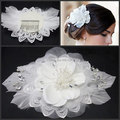 New Design Wedding Accessories Rose Pearls Lace Headdresses for Bride
