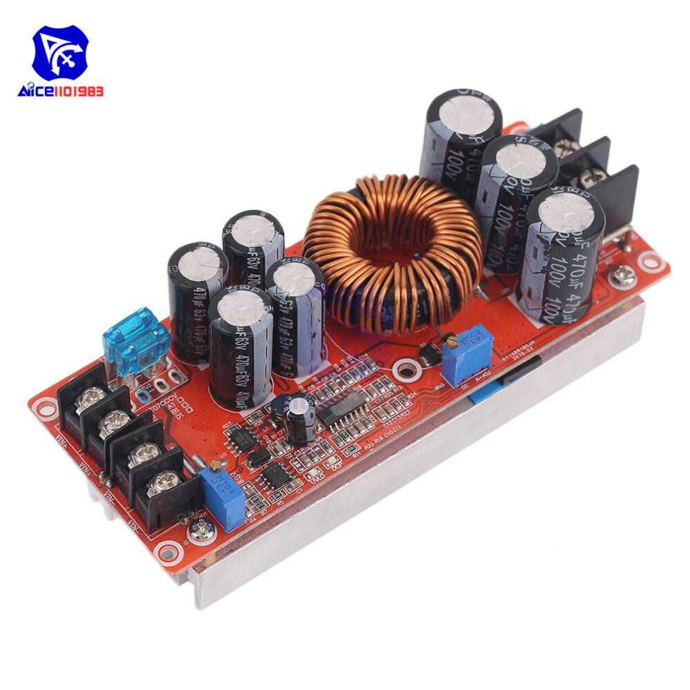 DC 20A 1200W Boost Constant Current Module Variable Voltage Power Supply IN 8-60V Top Quality Step Up Module
