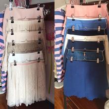 Семейный сверхмощный 6 ярусов юбка брюки вешалка для одежды металлический складной Органайзер складной шкаф для хранения бытовой Органайзер