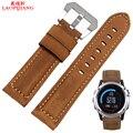 Laopijiang 26 MM Fenix3 Derek Garmin Fenix 3 faixa de relógio Pulseira de Couro de Cavalo Louco 3 cor