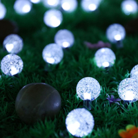 Round Ball Bubble Lights Led Balloon Lights Solar LED Luminous Glowing Balls Led Rave Party Christmas Wedding Party Decoration