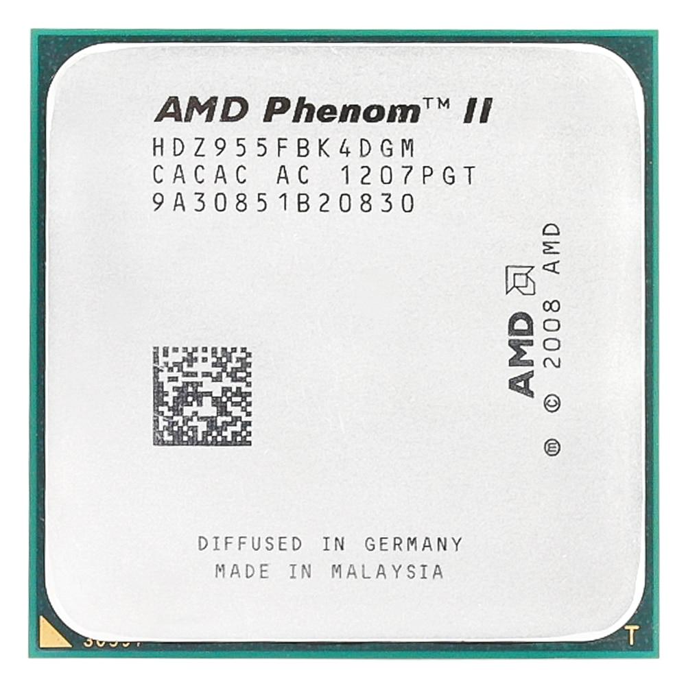 AMD Phenom II X4 955x4 955/3. 2 Ghz/L3 = 6 MB/Quad-Core processeur Socket AM3/938-pin