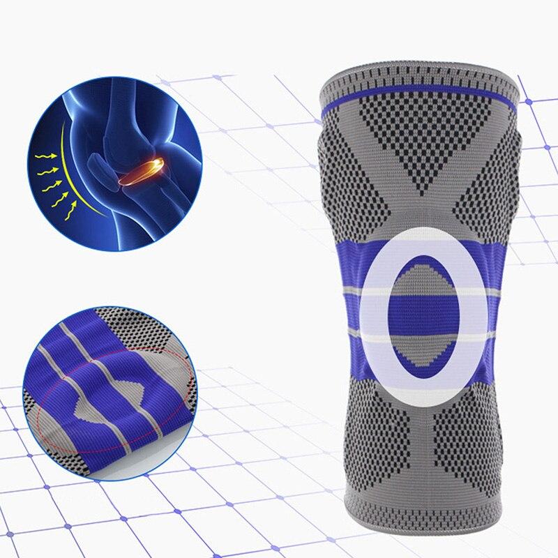 Fitness Lauf Knie Unterstützung Gym Sport Arthritis Relief Hosenträger Kneepad Elastische Nylon Silicon Padded Kompression Knie Pad Hülse