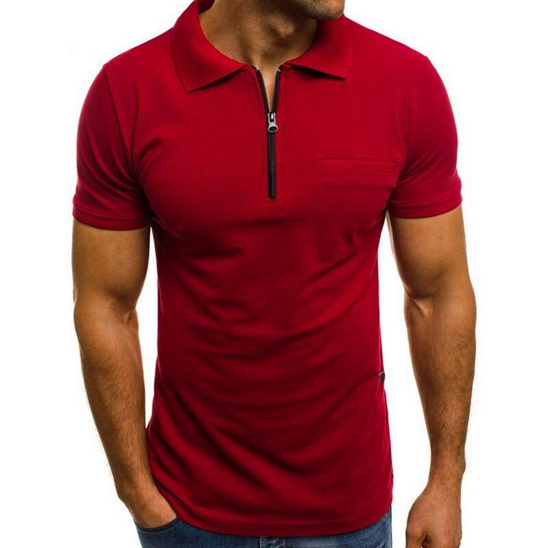 Laamei Brand New Zipper Men   Polo   Shirts Men Business Casual Pocket Male   Polo   Shirt Short Sleeve   Polo   Shirts Dropshipping